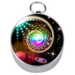 Space Star Planet Light Galaxy Moon Silver Compasses