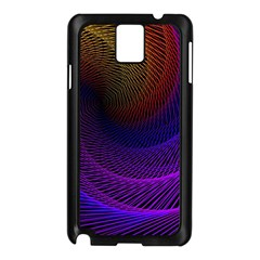Striped Abstract Wave Background Structural Colorful Texture Line Light Wave Waves Chevron Samsung Galaxy Note 3 N9005 Case (black)