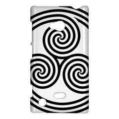 Triple Spiral Triskelion Black Nokia Lumia 720