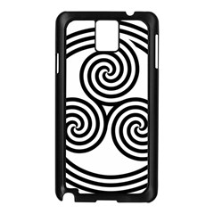 Triple Spiral Triskelion Black Samsung Galaxy Note 3 N9005 Case (black)