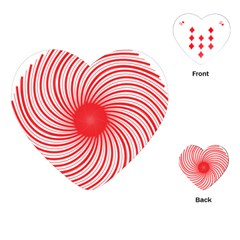 Spiral Red Polka Star Playing Cards (heart)