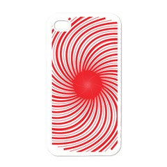 Spiral Red Polka Star Apple Iphone 4 Case (white)