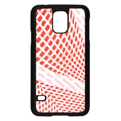 Waves Wave Learning Connection Polka Red Pink Chevron Samsung Galaxy S5 Case (black)