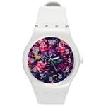 Mosaic Pattern 8 Round Plastic Sport Watch (M) Front