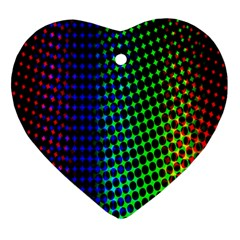 Digitally Created Halftone Dots Abstract Background Design Ornament (heart)