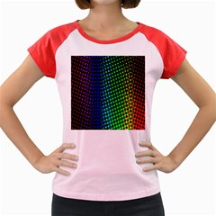 Digitally Created Halftone Dots Abstract Background Design Women s Cap Sleeve T Shirt