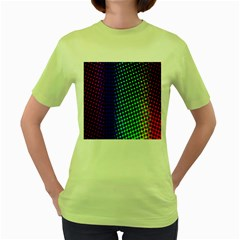 Digitally Created Halftone Dots Abstract Background Design Women s Green T Shirt