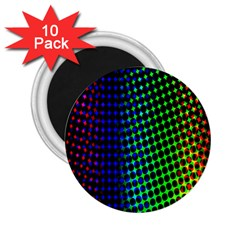 Digitally Created Halftone Dots Abstract Background Design 2 25  Magnets (10 Pack)