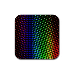 Digitally Created Halftone Dots Abstract Background Design Rubber Square Coaster (4 Pack)