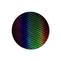 Digitally Created Halftone Dots Abstract Background Design Rubber Round Coaster (4 Pack)