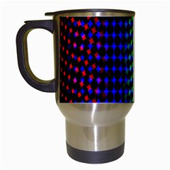 Digitally Created Halftone Dots Abstract Background Design Travel Mugs (white)