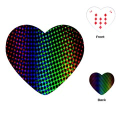 Digitally Created Halftone Dots Abstract Background Design Playing Cards (heart)