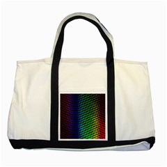 Digitally Created Halftone Dots Abstract Background Design Two Tone Tote Bag