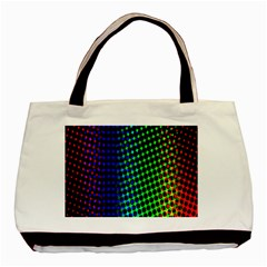 Digitally Created Halftone Dots Abstract Background Design Basic Tote Bag (two Sides)