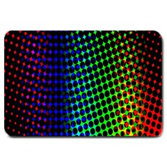 Digitally Created Halftone Dots Abstract Background Design Large Doormat