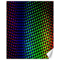 Digitally Created Halftone Dots Abstract Background Design Canvas 11  X 14