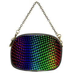 Digitally Created Halftone Dots Abstract Background Design Chain Purses (one Side)