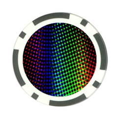 Digitally Created Halftone Dots Abstract Background Design Poker Chip Card Guard (10 Pack)