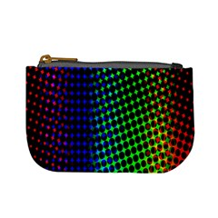 Digitally Created Halftone Dots Abstract Background Design Mini Coin Purses