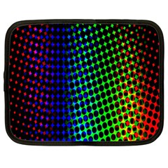 Digitally Created Halftone Dots Abstract Background Design Netbook Case (xxl)