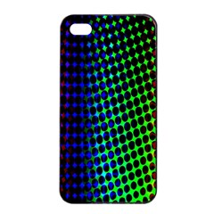 Digitally Created Halftone Dots Abstract Background Design Apple Iphone 4/4s Seamless Case (black)
