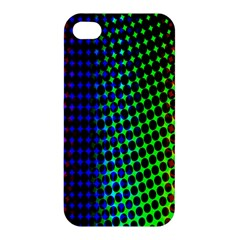 Digitally Created Halftone Dots Abstract Background Design Apple Iphone 4/4s Hardshell Case