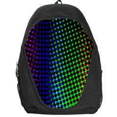 Digitally Created Halftone Dots Abstract Background Design Backpack Bag