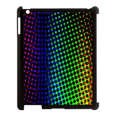 Digitally Created Halftone Dots Abstract Background Design Apple Ipad 3/4 Case (black)