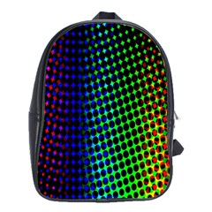 Digitally Created Halftone Dots Abstract Background Design School Bag (xl)