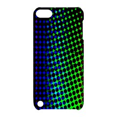 Digitally Created Halftone Dots Abstract Background Design Apple Ipod Touch 5 Hardshell Case With Stand