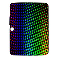 Digitally Created Halftone Dots Abstract Background Design Samsung Galaxy Tab 3 (10 1 ) P5200 Hardshell Case