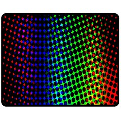 Digitally Created Halftone Dots Abstract Background Design Double Sided Fleece Blanket (medium)