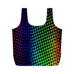 Digitally Created Halftone Dots Abstract Background Design Full Print Recycle Bags (m)