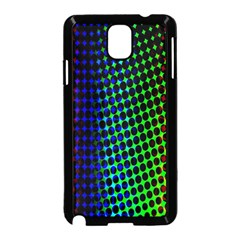 Digitally Created Halftone Dots Abstract Background Design Samsung Galaxy Note 3 Neo Hardshell Case (black)