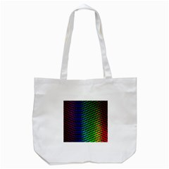 Digitally Created Halftone Dots Abstract Background Design Tote Bag (white)