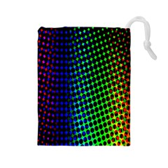 Digitally Created Halftone Dots Abstract Background Design Drawstring Pouches (large)