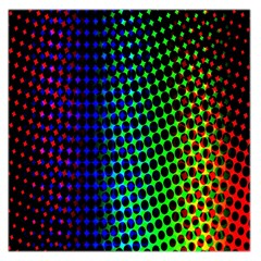Digitally Created Halftone Dots Abstract Background Design Large Satin Scarf (square)
