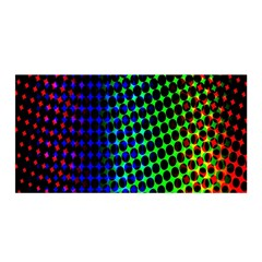 Digitally Created Halftone Dots Abstract Background Design Satin Wrap