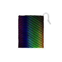 Digitally Created Halftone Dots Abstract Background Design Drawstring Pouches (xs)
