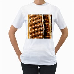 Abstract Architecture Background Women s T Shirt (white) (two Sided)