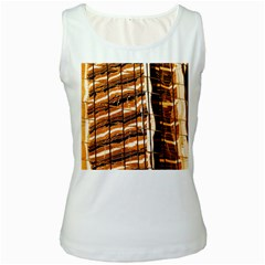 Abstract Architecture Background Women s White Tank Top
