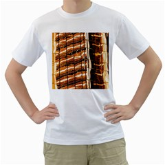 Abstract Architecture Background Men s T Shirt (white) (two Sided)