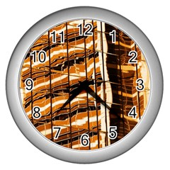 Abstract Architecture Background Wall Clocks (silver)