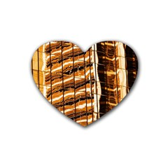 Abstract Architecture Background Heart Coaster (4 Pack)