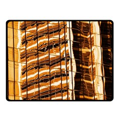 Abstract Architecture Background Double Sided Fleece Blanket (small)