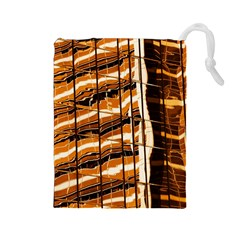 Abstract Architecture Background Drawstring Pouches (large)