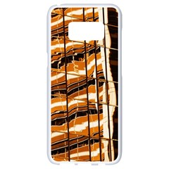 Abstract Architecture Background Samsung Galaxy S8 White Seamless Case