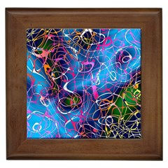 Background Chaos Mess Colorful Framed Tiles