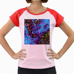 Background Chaos Mess Colorful Women s Cap Sleeve T Shirt