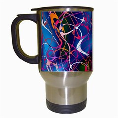 Background Chaos Mess Colorful Travel Mugs (white)